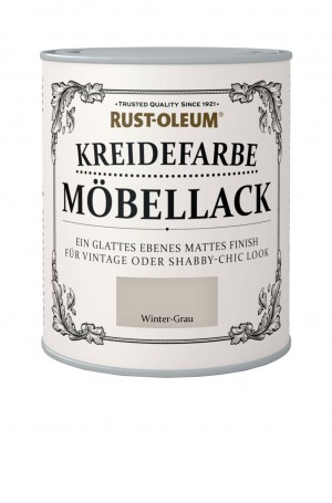 Kreidefarbe Mobellack Winter-Grau