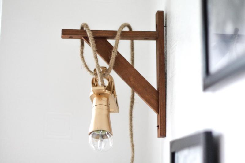DIY hängende Schnur Lampe