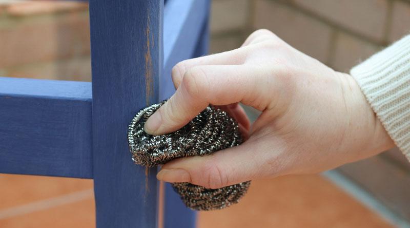 Blau Upcycled Stuhl